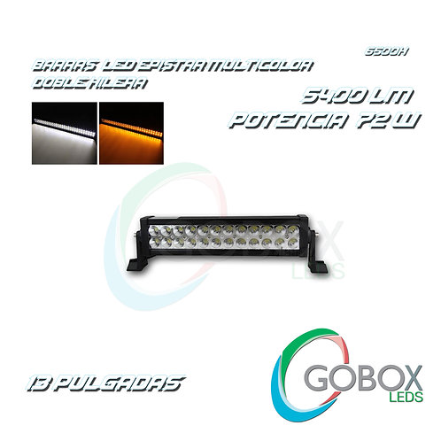"Barra Led Epistar Doble Hilera Bicolor 13"" 72W"