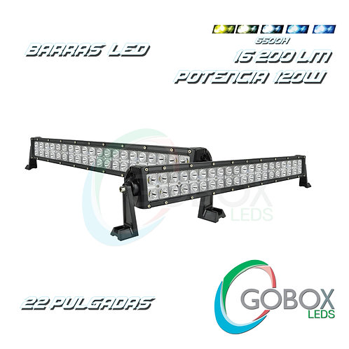 "Barra Led Cree Doble Hilera 22"" 120W"