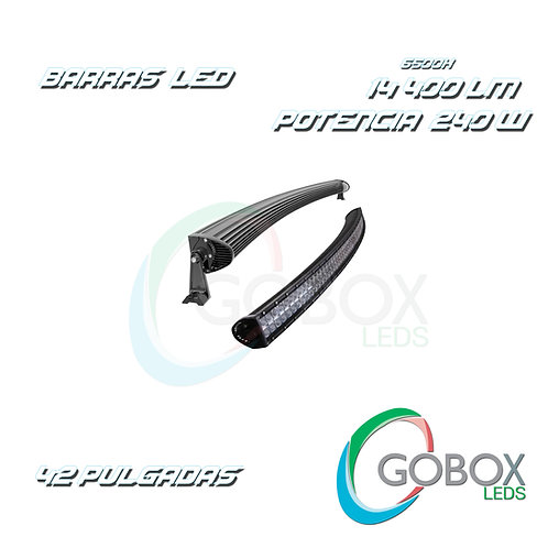 "Barra Led Cree Curva Doble Hilera 42"" 240W"