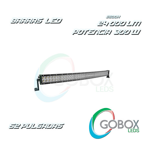 "Barra Led Cree Curva Doble Hilera 52"" 300W"
