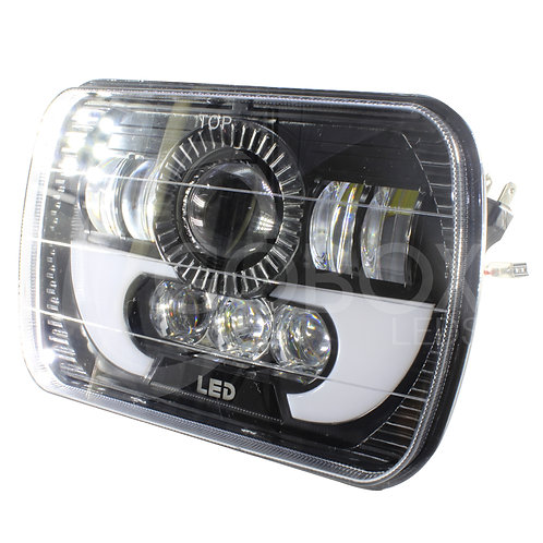 Par De Faros 7 Led Truck Headlight 45w 6000k Drl 3500l