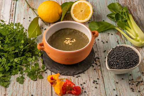 Soupe aux blettes et lentilles