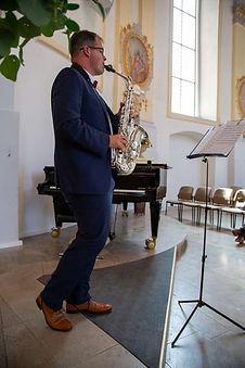Arno Maczioch mit Saxofon