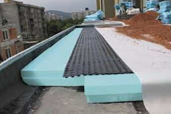 extruded polystyrene roof application