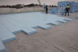 extruded polystyrene floor application