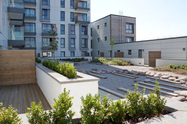 Roof-garden-with-plants-and-planters