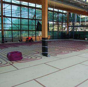 XPS Floor Hydronic Heating insulation-po