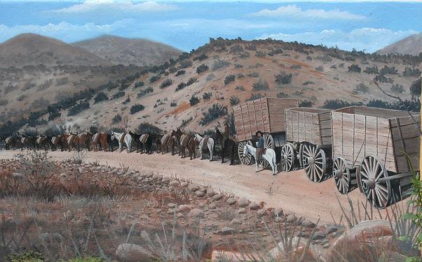 Mule Team hauling copper ore
