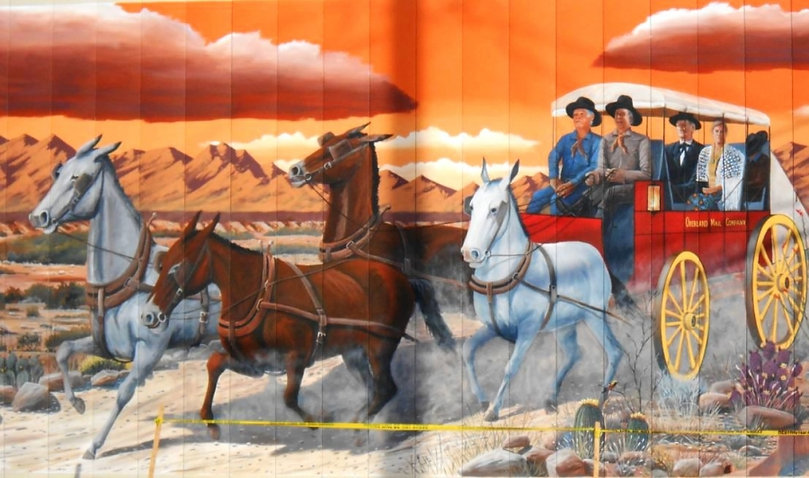 Butterfield Overland Stage Mural