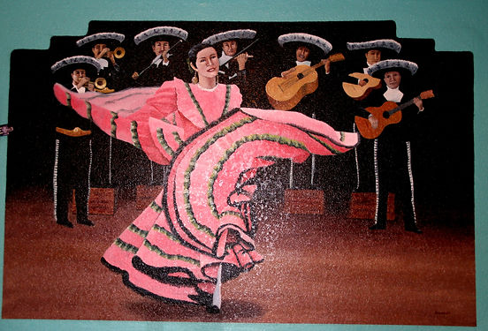 Mariachi's and Dancer, 86 Cafe