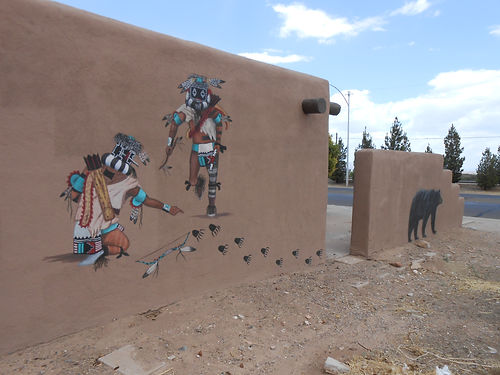 Kachina Hunters and bear mural
