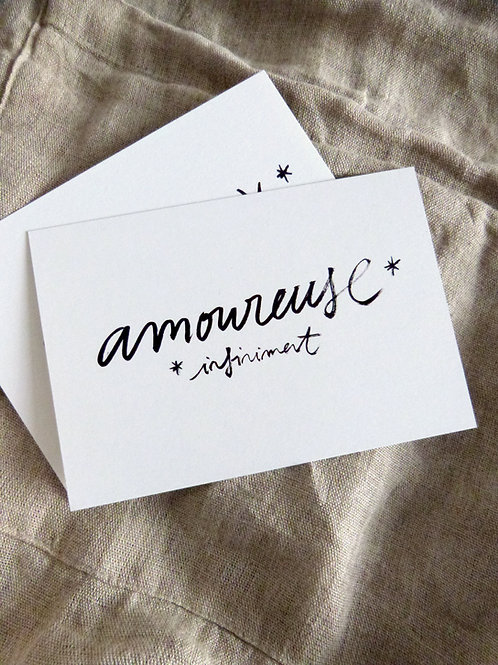 """Amoureuse, infiniment"""