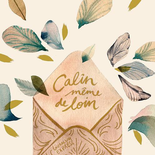 "Carte ""Câlin de loin"" GOLD"