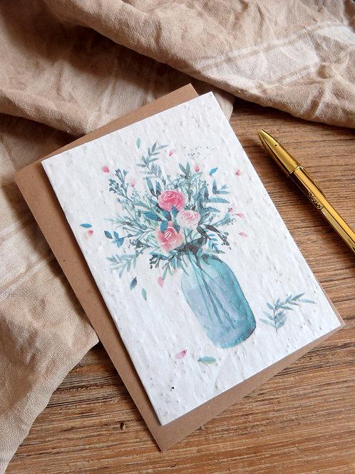 """Carte à graines """"Le vase"""""""
