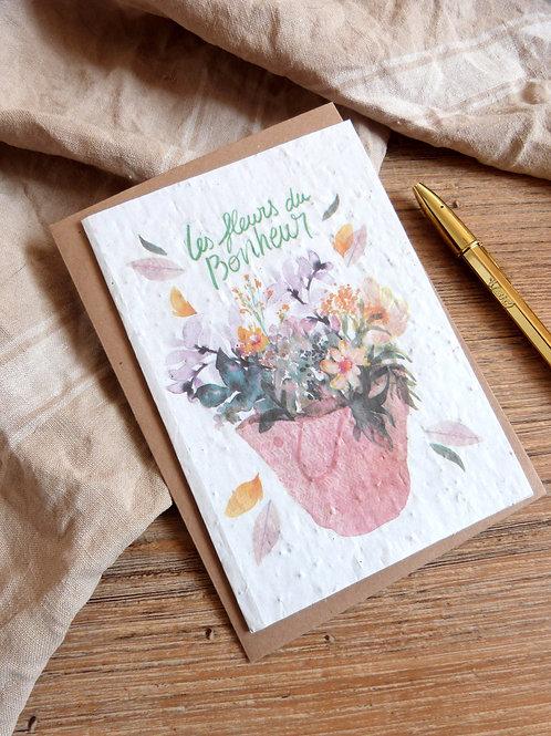"""Carte à graines """"Les fleurs du bonheur"""""""