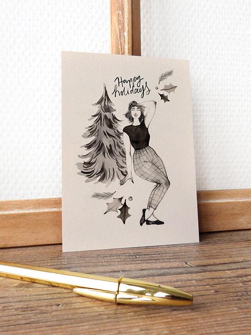 "Carte ""Happy holidays"""