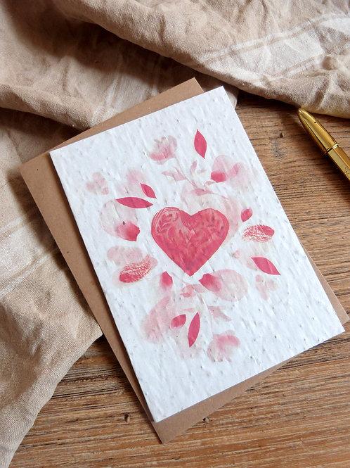 """Carte à graines """"Le coeur"""""""