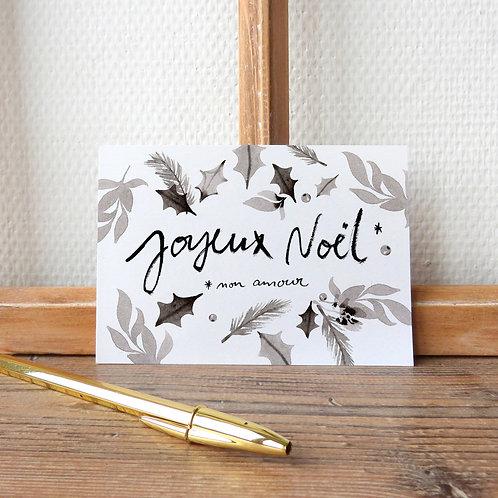 """Carte """"Joyeux Noël, mon amour"""""""