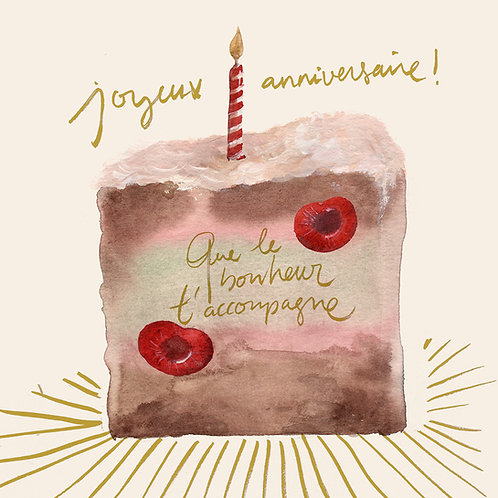 """Carte """"Joyeux anniversaire..."""" GOLD"""