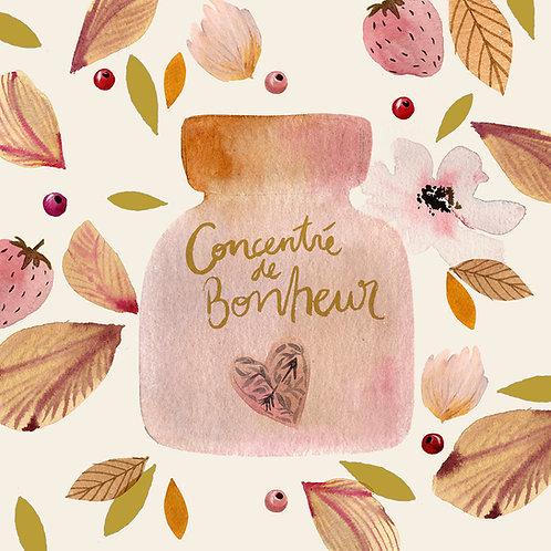 """Carte """"Concentré de bonheur"""" GOLD"""
