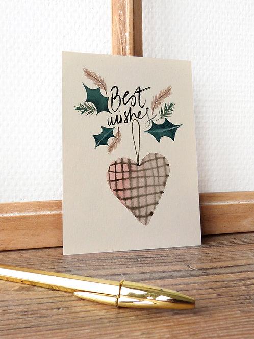 "Carte ""Best wishes"""