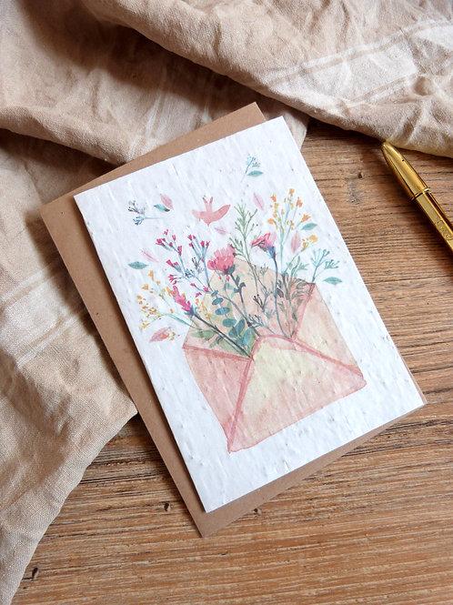"""Carte à graines """"L'enveloppe"""""""