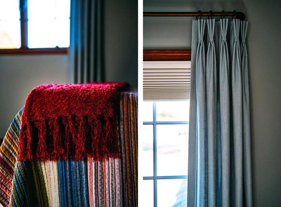 Guest Bedroom Throw and Draperies