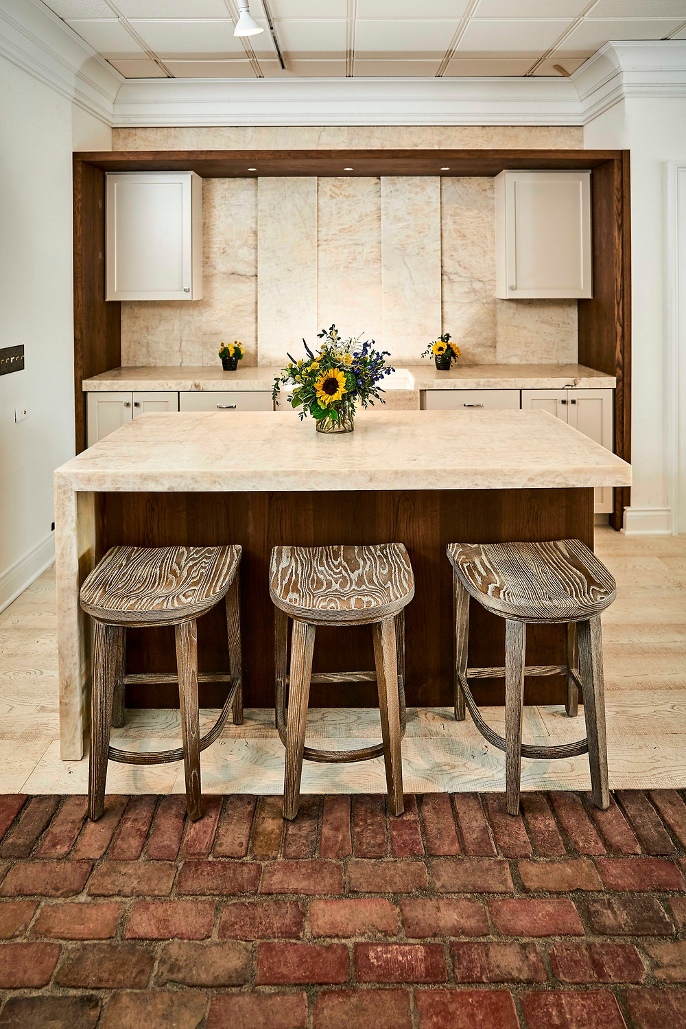 Newly Designed Kitchen Vignette by Amish Touch Custom Cabinetry
