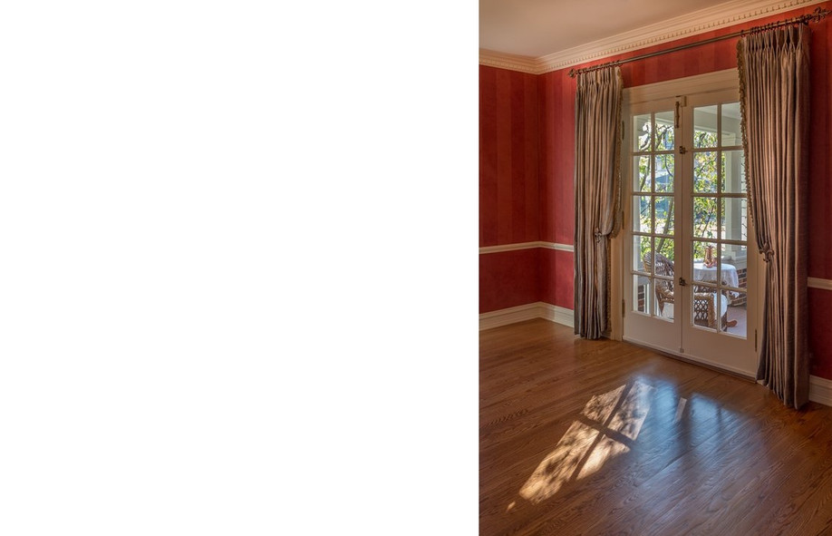 Rich Red Walls and Silk Draperies