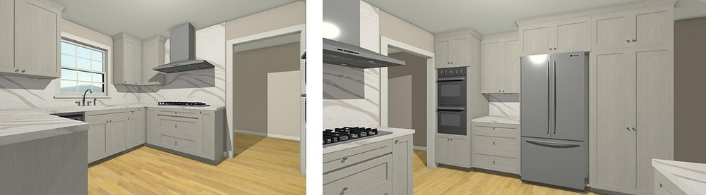 Ann's Initial Kitchen Design Drawings