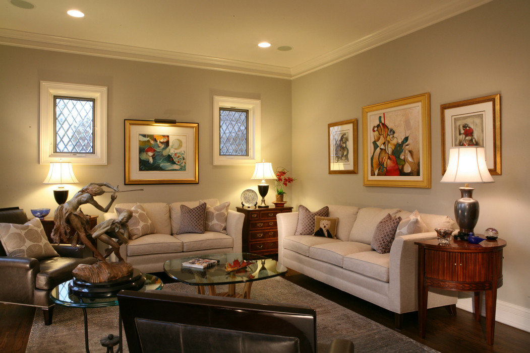 Sophisticated Living Room Designed Around the Artwork