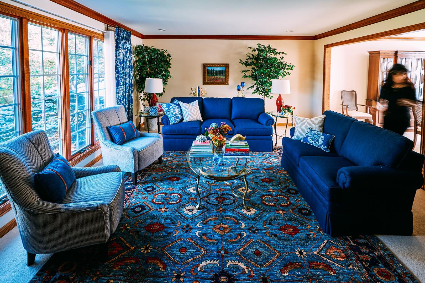 Indigo Living Room