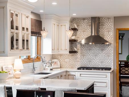 Modern Glamour Kitchen & Powder Room