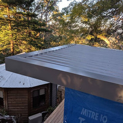 New colorbond roof, flashings, guttering