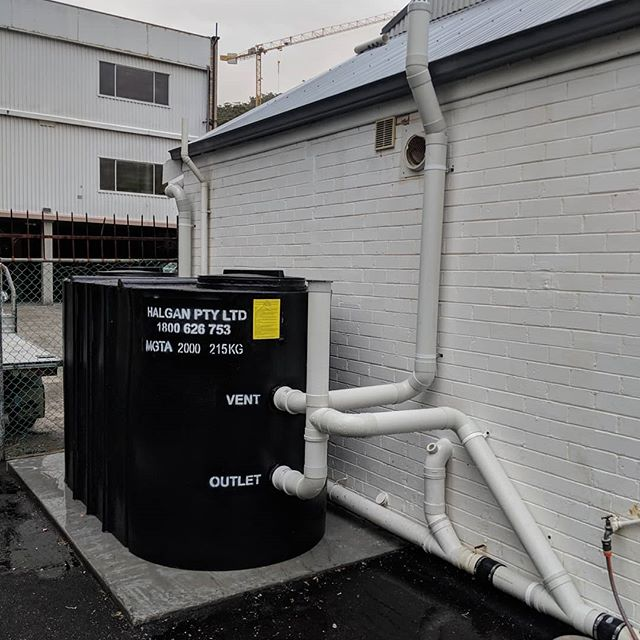 Above ground grease trap installation to