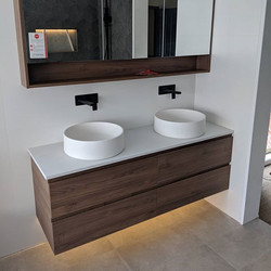 Completed these 2 bathrooms today in Cur