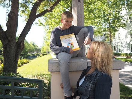 Susan Binau with son, Author Andy Binau.