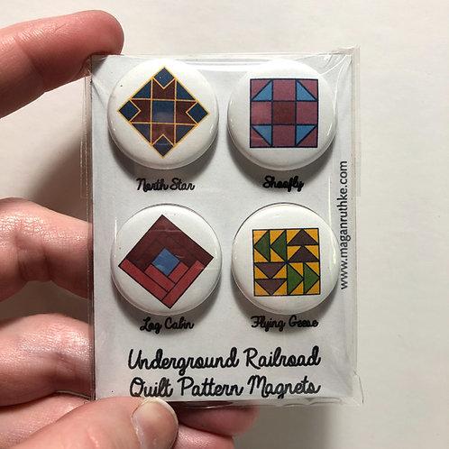 Underground Railroad Quilt Pattern Magnets