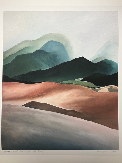 Great Sand Dunes in the Rain Print