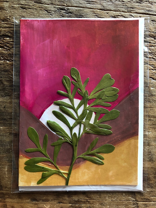 Rue Hand-Painted Card