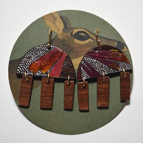 Trumpet Honeysuckle Earrings