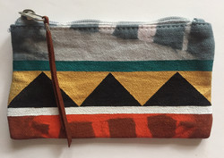 Small Hand Painted Pouch: Front