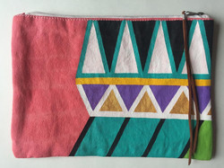 Large Hand Painted Pouch