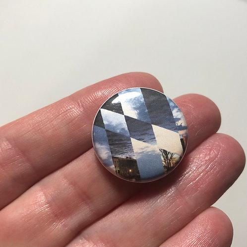 Sunrise/Sunset Baltimore Flag Pin or Magnet