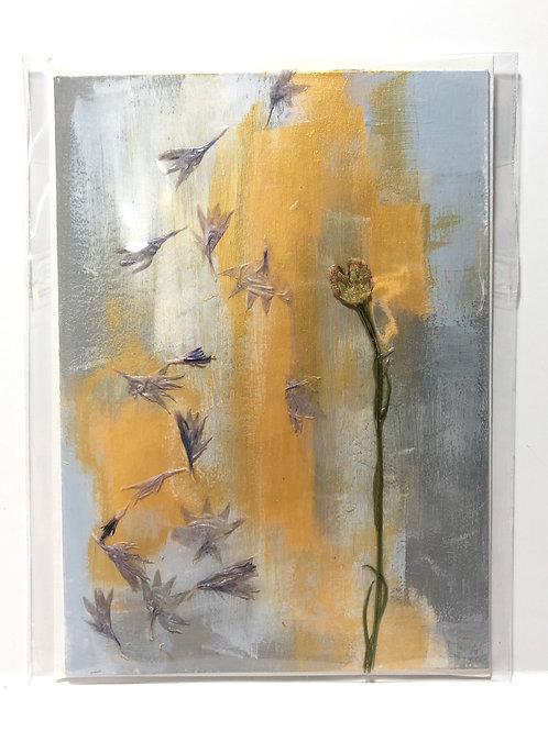 Falling Cornflowers Hand-Painted Card