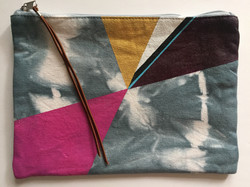 Large Hand Painted Pouch: Front