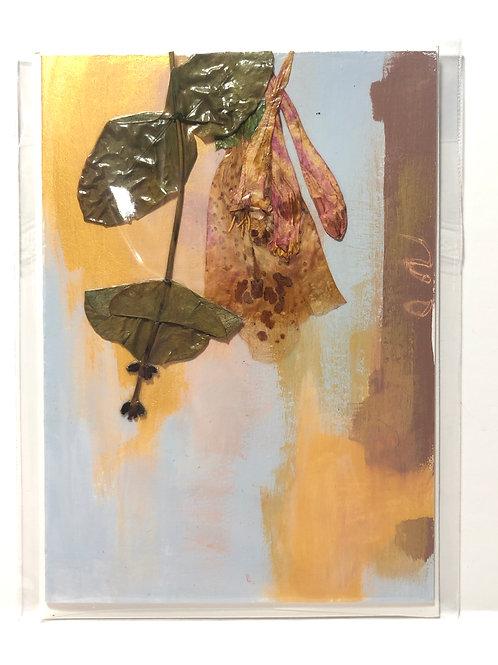 Trumpet Honeysuckle & Foxglove Hand-Painted Card