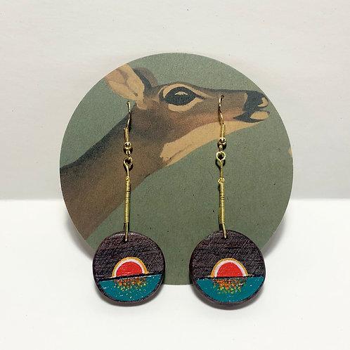 Red Sunset Earrings