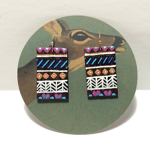 Painted Pattern Earrings