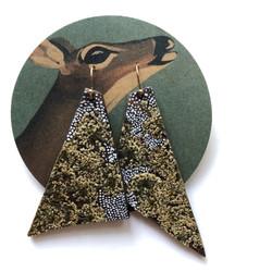 Wood & Pressed Plant Earrings
